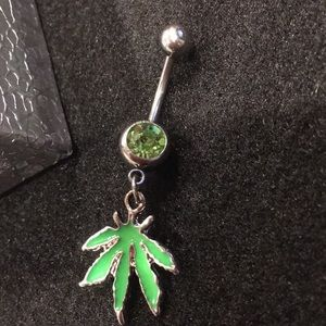 Hanging Pot Leaf Belly Button Ring New